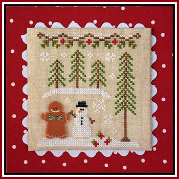 Country Cottage Needleworks - Gingerbread Village #7 - Gingerbread Boy & Snowman MAIN