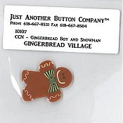 Jabco Button Pack - Country Cottage Needleworks - Gingerbread Boy & Snowman