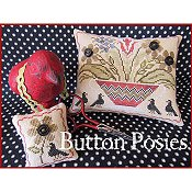 The Scarlett House - Button Posies Pin Keep and Scissor Weight THUMBNAIL