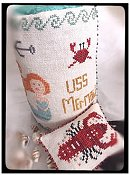 Death By Thread - USS Mermaid Drumroll Lobster Scissor Fob THUMBNAIL