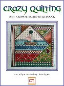 Carolyn Manning Designs - Crazy Quilting July Block THUMBNAIL