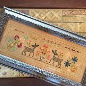 Samplers Remembered - Checkeerboard Stag Sampler 1721
