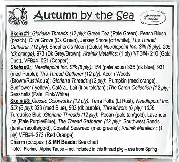 Jeannette Douglas Designs - Autumn By The Sea Embellishment Pack MAIN