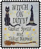 Waxing Moon Designs - Witch On Duty