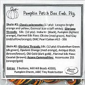 Jeannette Douglas Designs - Pumpkin Patch Box Embellishment Pack