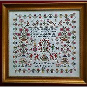 Victorian Rose Needleart - Emma Chester 1862