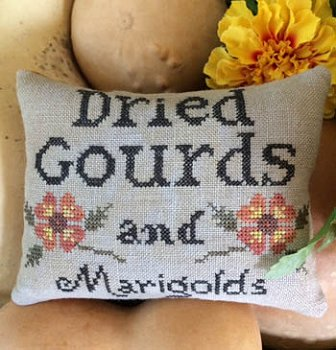 The Scarlett House - Dried Gourds and Marigolds MAIN