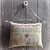 Scattered Seed Samplers - Pure In Heart - Hanging Pinpillow