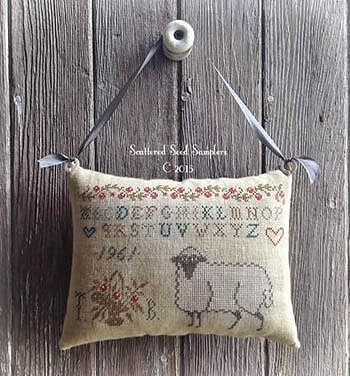 Scattered Seed Samplers - Pure In Heart - Hanging Pinpillow MAIN