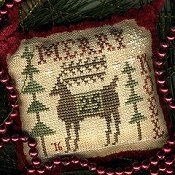 Homespun Elegance - 2016 Sampler Ornament - Merry Deery