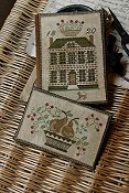 Stacy Nash Primitives - Boxwood Manor Sewing Book & Thread Keep