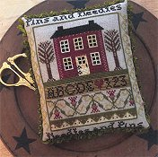 Annie Beez Folk Art - Pins And Needles Sampler Pinkeep THUMBNAIL
