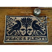 Scattered Seed Samplers - Peace & Plenty Scissor Mat