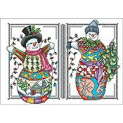 Vickery Collection - Two Happy Snowmen THUMBNAIL