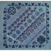 Freda's Fancy Stitching - Blue Doodles