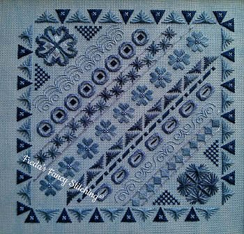 Freda's Fancy Stitching - Blue Doodles MAIN