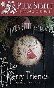 Plum Street Samplers Cross Stitch Merry Friends