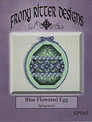 Frony Ritter Designs - Blue Flowered Egg THUMBNAIL
