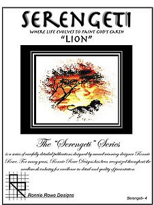 "Ronnie Rowe Designs - Serengeti ""Lion"" MAIN"