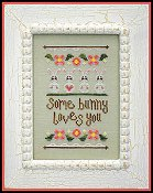 Country Cottage Needleworks - Some Bunny Loves You THUMBNAIL