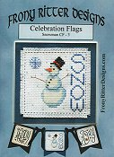 Frony Ritter Designs - Celebration Flags - Snowman THUMBNAIL
