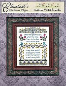 Elizabeth's Designs - Antique Violet Sampler