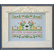 Country Cottage Needleworks - Spring In Your Step THUMBNAIL