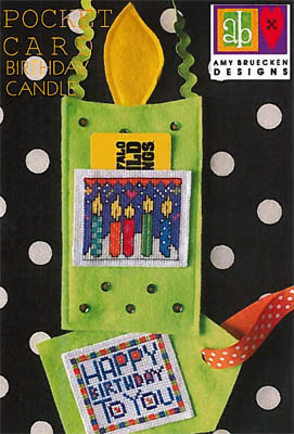 Amy Bruecken Pocket Card - Birthday Candle