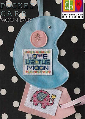 Amy Bruecken Pocket Card - Moon Baby