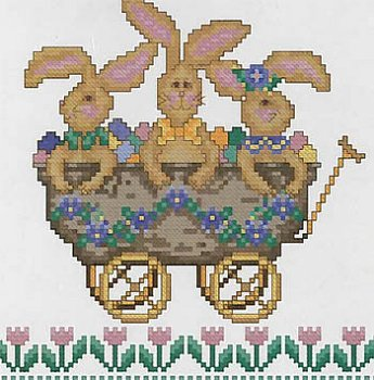 Cross Point Designs - All Aboard!  The Bunny Express