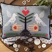 Annie Beez Folk Art - Heart In Hand Emblem THUMBNAIL