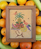 Carriage House Samplings - Tropical Hat Lady THUMBNAIL