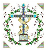 Vickery Collection - Holly Wreath Cross
