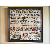 Cross Stitch Antiques - Headmistress Sampler Series - Band of Roses 1845 Antique Sampler
