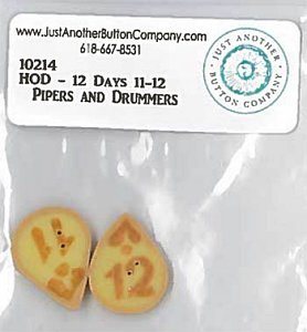 Jabco Button Pack - Hands On Design - 12 Days - Pipers and Drummers MAIN