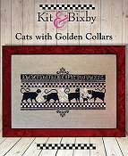 Kit & Bixby - Cats With Golden Collars