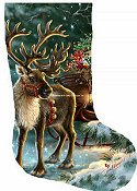 Heaven and Earth Designs - Stocking Enchanted Christmas Reindeer THUMBNAIL