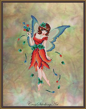 Cross Stitching Art - Anneke The Tulip Fairy MAIN