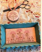 Stacy Nash Primitives - Snippets of Mary Barres Sampler - Small Sewing Tray & Pin Disk