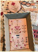 Stacy Nash Primitives - Snippets of Mary Barres Sampler - Medium Sewing Tray & Needle Book