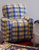 X's & Oh's - Mini Armchair (Plaid)