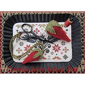 The Scarlett House - Coverlet Berry Scissor Tray