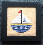 Needle Bling Designs - Home Decor - August Sailboat THUMBNAIL