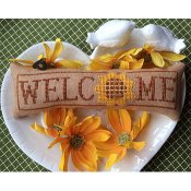 Needle Bling Designs - Wee Welcome's - August Sunflower