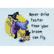MarNic Designs - Never Drive Faster Than Your Broom Can Fly THUMBNAIL