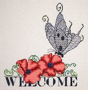 MarNic Designs - Welcome Series - Poppy & Blackwork Butterfly THUMBNAIL