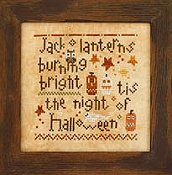 Heart In Hand Needleart - Wee One - Halloween Night THUMBNAIL