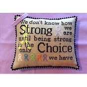 Needle Bling Designs - Courageous & Strong