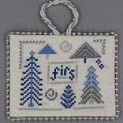 Misty Hill Studio - A Blue and Silver Christmas - Firs