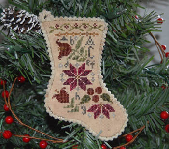 Sampler Stocking Christmas Ornament #2 Abby Rose Designs Cross Stitch Pattern